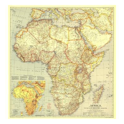 1935 Africa Map