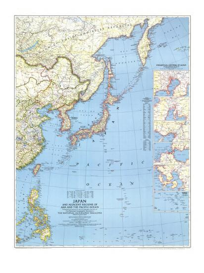 1944 Japan and Adjacent Regions of Asia and the Pacific Ocean Map ...