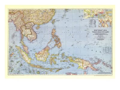 1944 Southeast Asia and the Pacific Islands Map