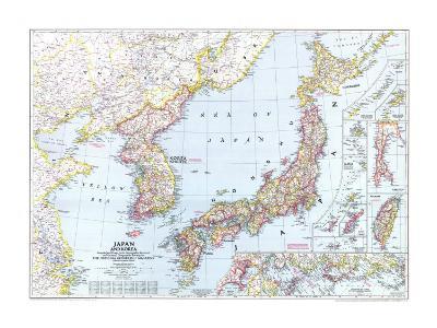 1945 Japan and Korea Map