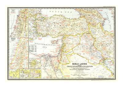 1946 Bible Lands, and the Cradle of Western Civilization Map