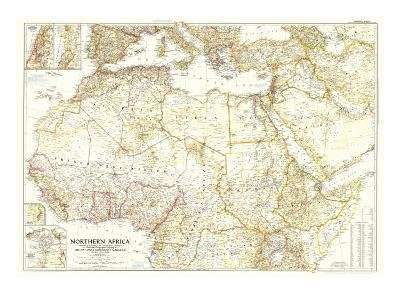 1954 Northern Africa Map