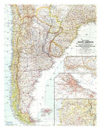 1958 Southern South America Map