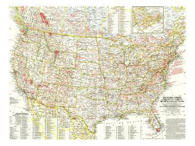 1958 National Parks Map