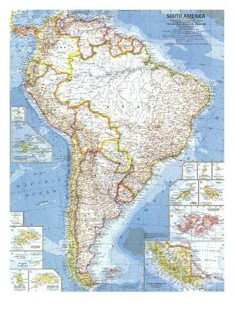 1960 South America Map