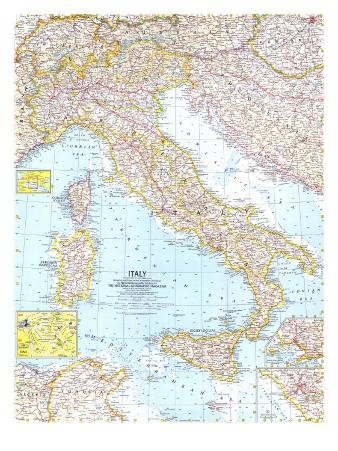 1961 Italy Map