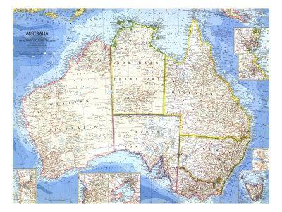 1963 Australia Map