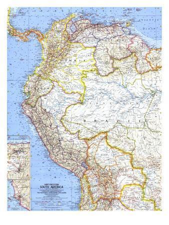 1964 Northwestern South America Map