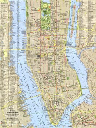 1964 Tourist Manhattan Map