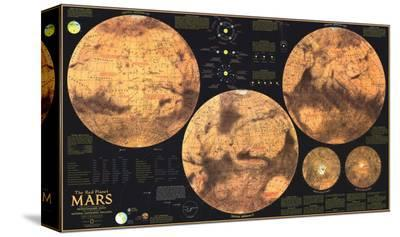 1973 Red Planet Mars Map