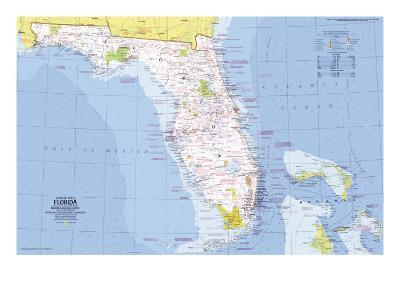 1973 Close-up USA, Florida Map