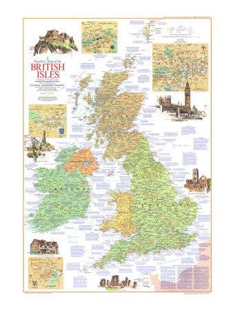 1974 Travelers Map of the British Isles