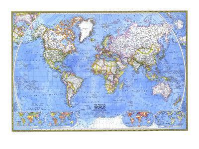 1975 Political World Map