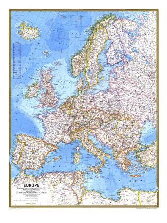 1977 Europe Map