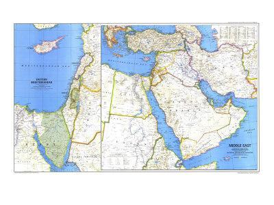 1978 Middle East Map
