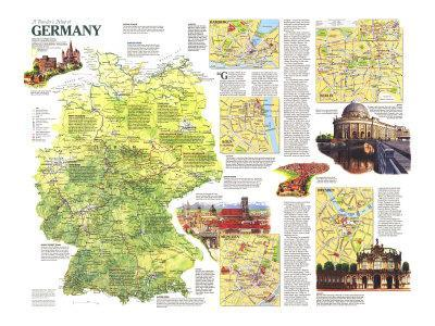 1991 Travelers Map of Germany