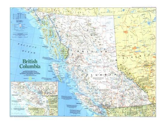 1992 Making of Canada, British Columbia Map