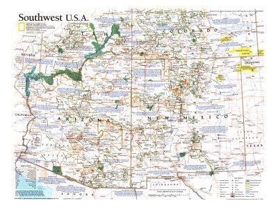 1992 Southwest, USA Map