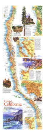 1993 Coastal California Map