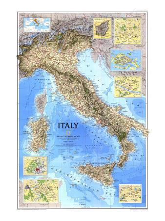 1995 Italy Map