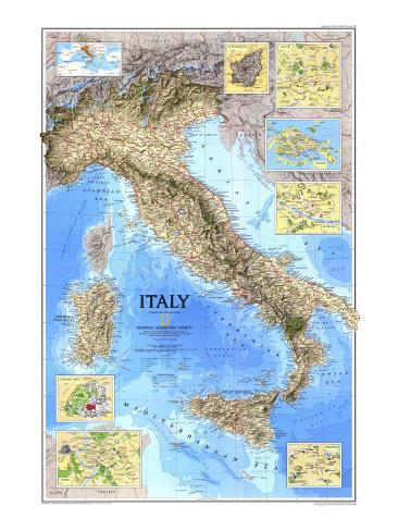 Picture Of Italy Map.1995 Italy Map Posters By National Geographic Maps At Allposters Com