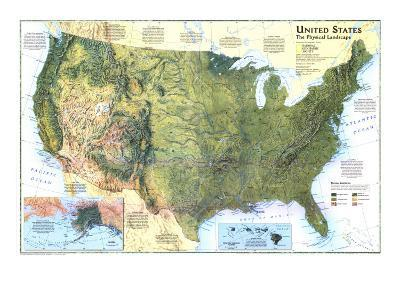 1996 United States, the Physical Landscape Map