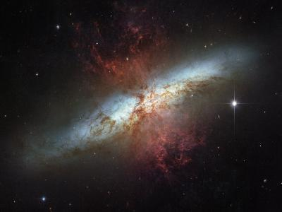 This galaxy is called the Cigar galaxy for its oblong shape