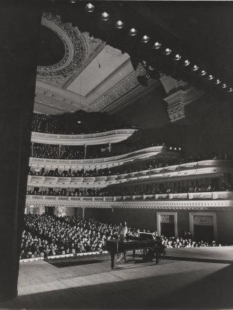 Singer Marian Anderson Performing for an Audience at Carnegie Hall