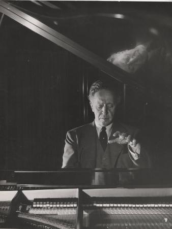 Pianist Arthur Rubenstein at the Piano