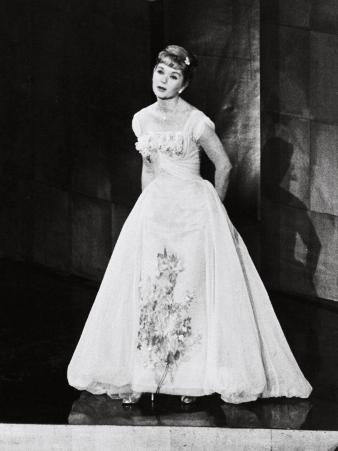Actress Debbie Reynolds Performing at the Academy Awards