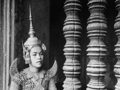 Religious Dancer at Temple of Angkor Wat, Wearing Richly Embroidered and Ornamented Costumes