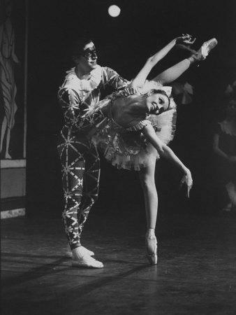 "New York City Ballet Company Stars Edward Villella and Patricia Mcbride Performing ""Harlequinade"""