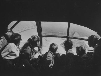 Retired Industrialist Thomas W. Kendall's Family Vacationing in their Private Plane