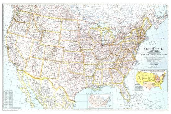 United States Map Wall Mural.1940 United States Of America Map Wall Mural By National Geographic