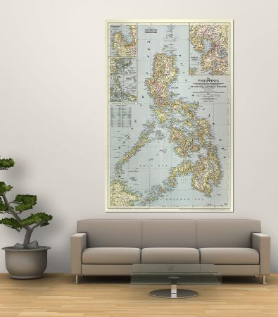 1945 Philippines Map