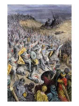 Crusaders under Godfrey of Bouillon, Defeating Muslim Forces of Sultan Kilij Arslan, Dorylaeum