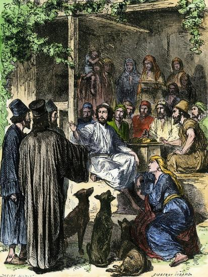 Jesus Eating With Sinners And Tax Collectors In Jerusalem