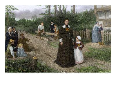 """Hester Prynne and Her Daughter Pearl, from Hawthorne's """"The Scarlet Letter"""""""