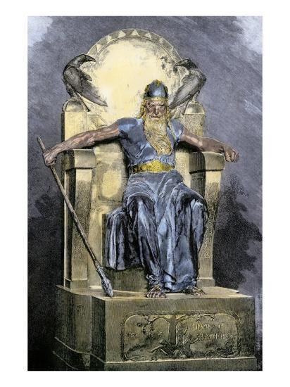 Odin, Supreme God in Norse Mythology Giclee Print at ...