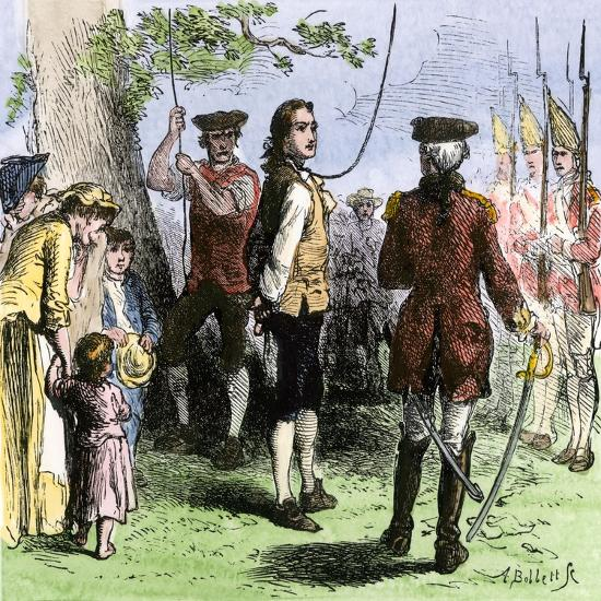 Nathan Hale Hanged By The British As A Spy 1776 Giclee