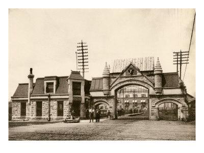 Entrance to the Union Stockyards, Chicago, 1890s