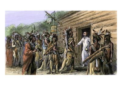 Native American Raid on French Colonial Settlement at Natchez, Mississippi, November, 1729