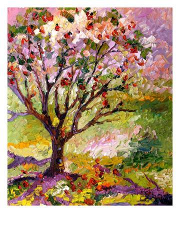 Grandmas Apple Tree Oil Painting By Ginette