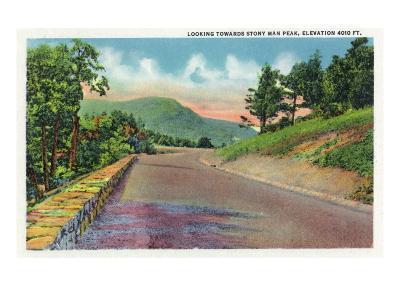 Shenandoah Nat'l Park, Virginia - Skyline Drive View of Stony Man Peak, c.1956