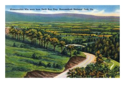 Shenandoah Nat'l Park, Virginia - Swift Run Gap View of the Massanutten Mountains, c.1956