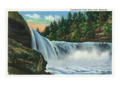 Cumberland Falls State Park, Kentucky - View of the Falls, c.1939