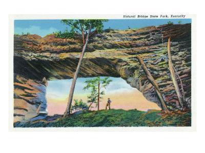 Natural Bridge State Park, Kentucky - General View of the Natural Bridge, c.1939