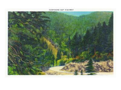 Great Smoky Mts. Nat'l Park, Tn - Scenic View Along Newfound Gap Highway, c.1946