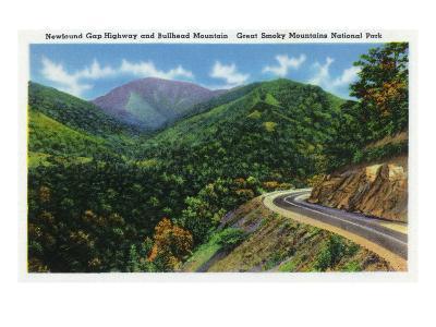 Great Smoky Mts. Nat'l Park, Tn - Newfound Gap Highway View of Bullhead Mountain, c.1941