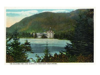 Dixville Notch, New Hampshire - View of the Balsams and Lake Gloriette, Cold Springs, c.1921
